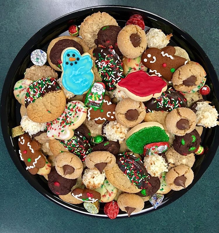 Christmas Cookie Trays.Christmas Cookie Platter House Cookies