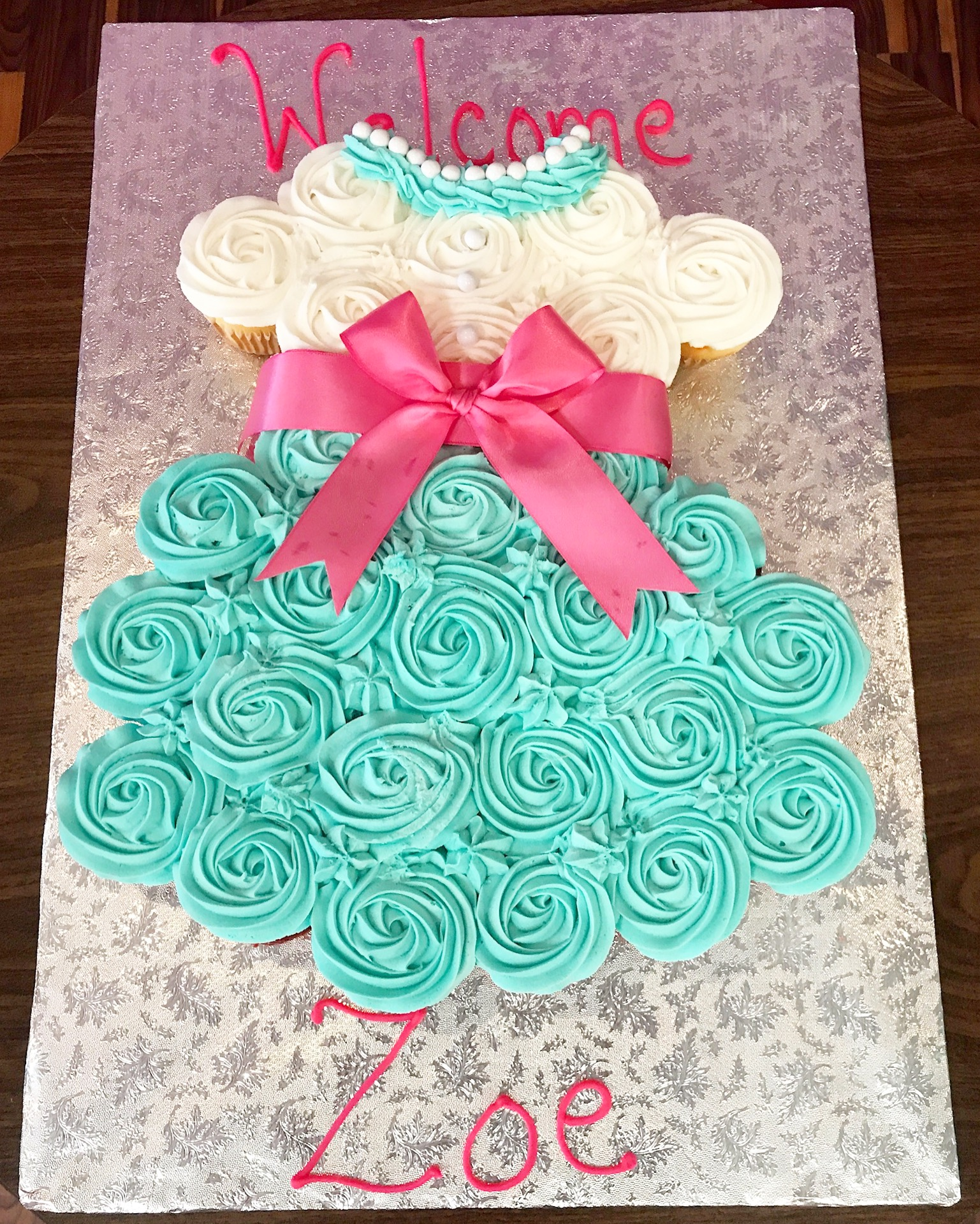 How To Make A Cupcake Dress Cake