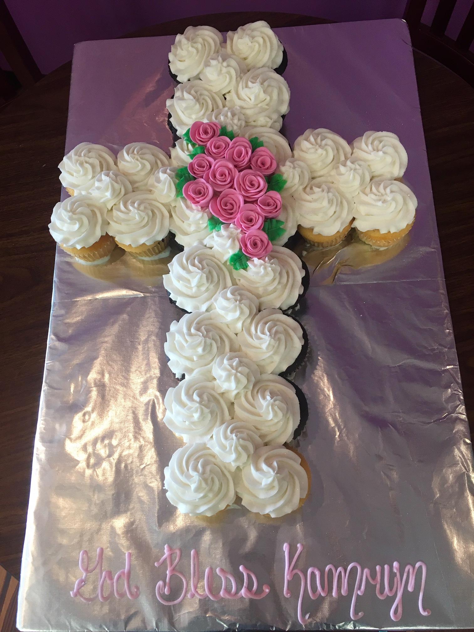How To Make Cross Cupcake Cake